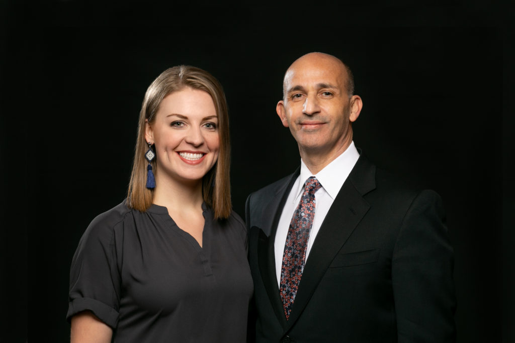 Photograph of Dr. Veronikis and Courtney Turnbough